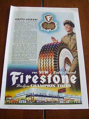 1941 FIRESTONE TIRES  ***ORIGINAL VINTAGE PRINT AD***