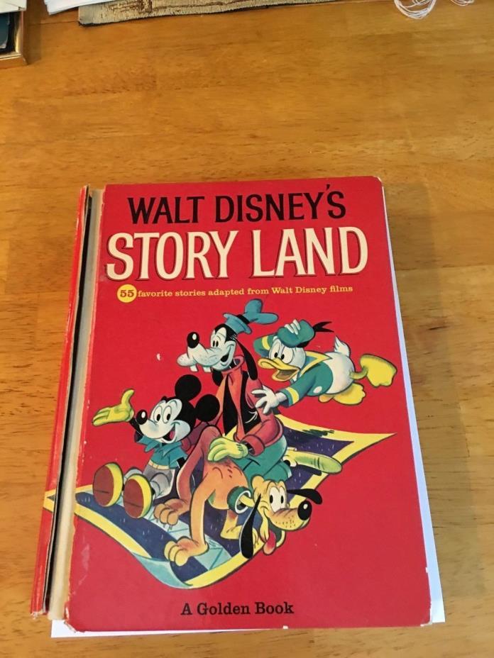 Vintage 1962 Walt Disney's Story Land Golden Book-55 Favorite Stories