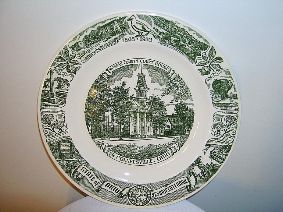 Kettlesprings Kilns McConnelsville Morgan County OHIO Sesqui-Centennial Plate