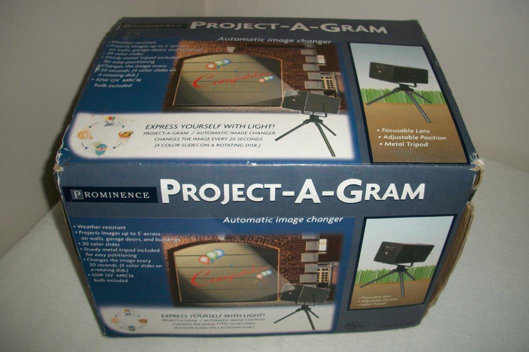 Project-A-Gram Seasonal Holiday Outdoor Garage Door Projector - 20 Color Slides
