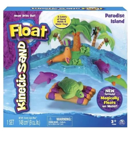 NEW Float Paradise Island Includes 3 Packets of Kinetic Sand By Kinetic Sand