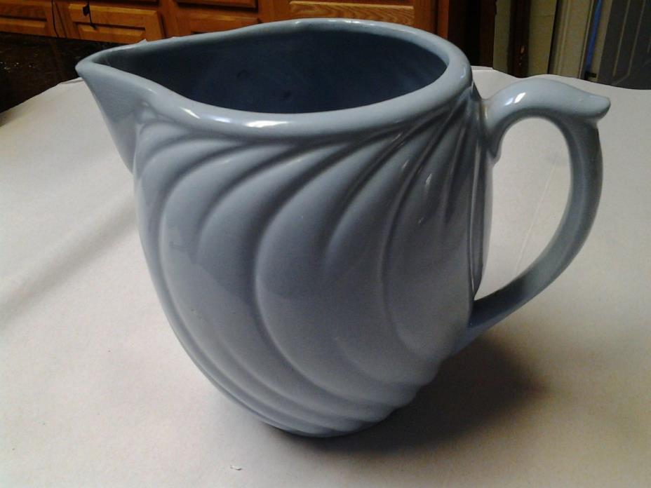 Vintage 1940-50 Pottery Light Blue Water Pitcher Marked USA. McCoy?