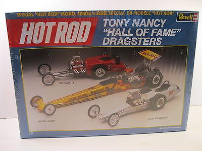 REVELL 1987 HOT ROD TONY NANCY DRAGSTERS MODEL KIT MINT 1:25 SEALED BOX