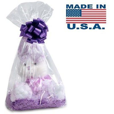 Clear Cellophane Bags Basket Gift Gusset Style In.
