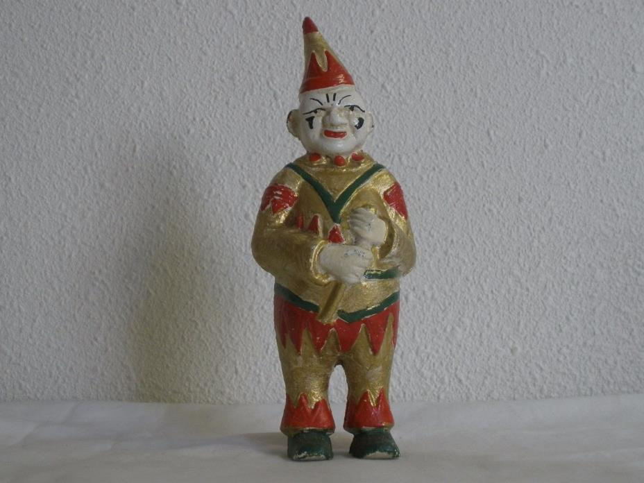 Cast Iron Clown Bank For Clifieds