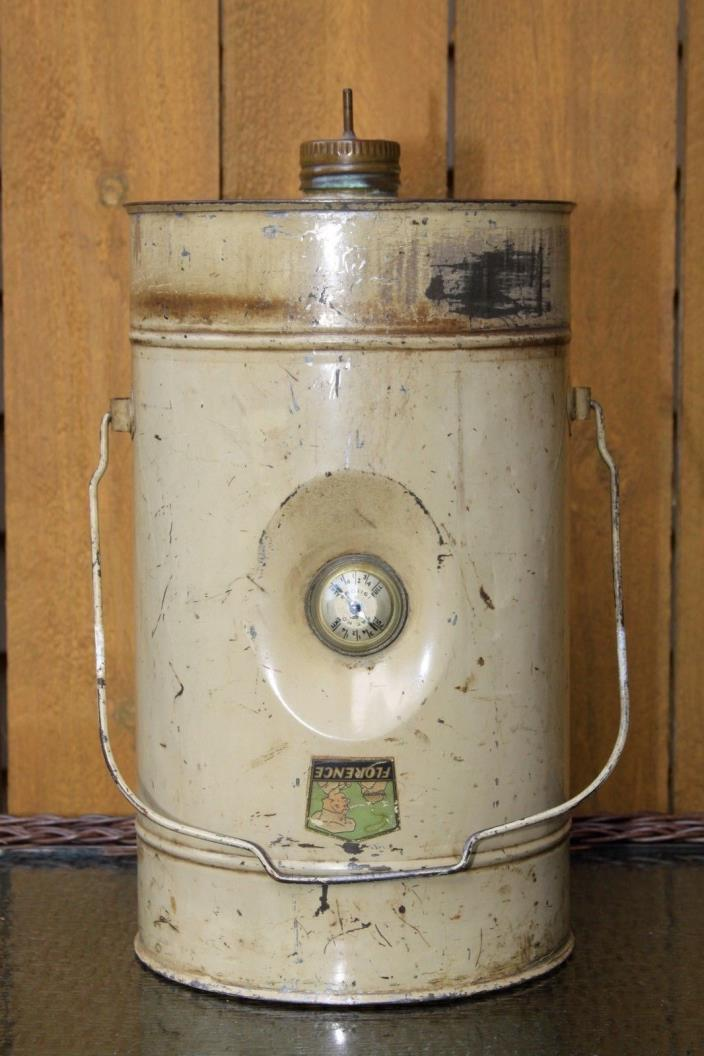 Florence Gas Stove Co Drip Fuel Gravity Fed Filler Gas Oil Storage Can Container