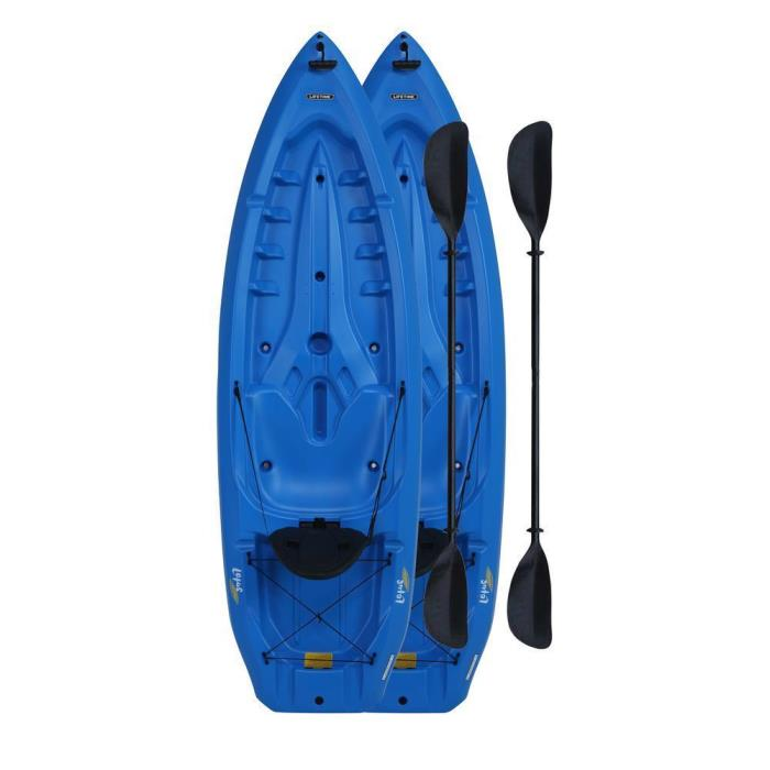 Durable Lightweight Lotus Blue 2-Pack Polyethylene Sit-on Compact Kayak