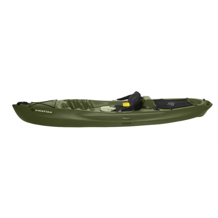 Olive Green Renegade Emotion 10 ft. Sit on Top Kayaks with Removable Padded Seat