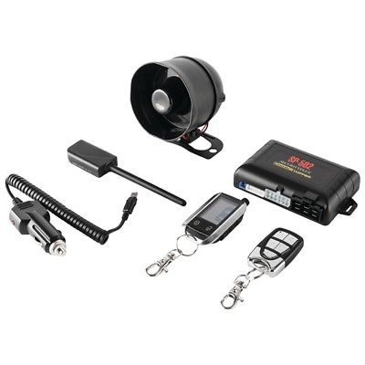 CRIMESTOPPER SP-502 2-Way LCD Paging Combo Alarm, Keyless-Entry & Remote-Start S