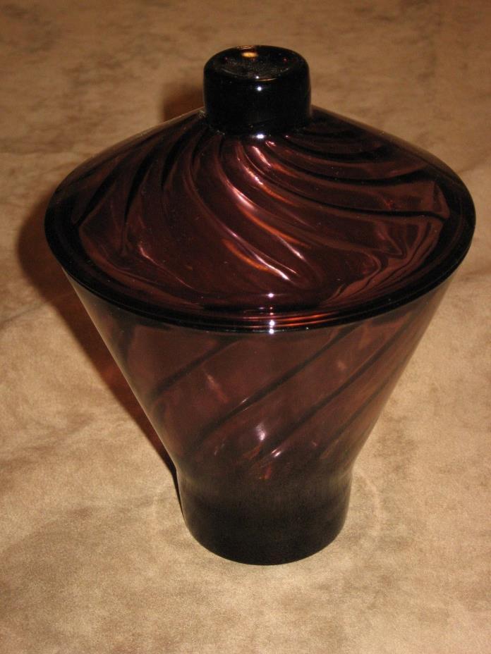 Collectible Vintage HAZEL ATLAS Moroccan Amethyst Swirl Candy Jar
