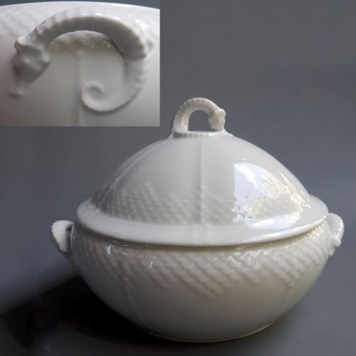 BING GRONDAHL B & G Denmark White China Seahorse Soup Tureen Covered Vegetable
