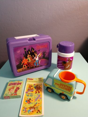 Scooby-Doo Lot - Lunchbox, Mug, Playing Cards, Stickers