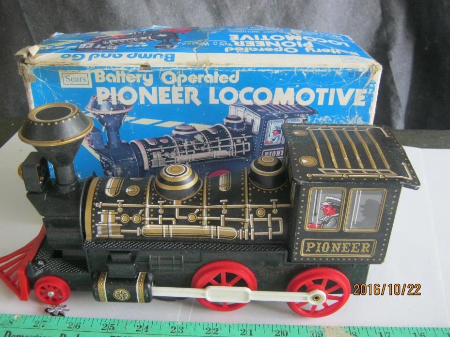 Shinseiki SKK Sears Japan Pioneer Locomotive vintage toy litho train metal Box