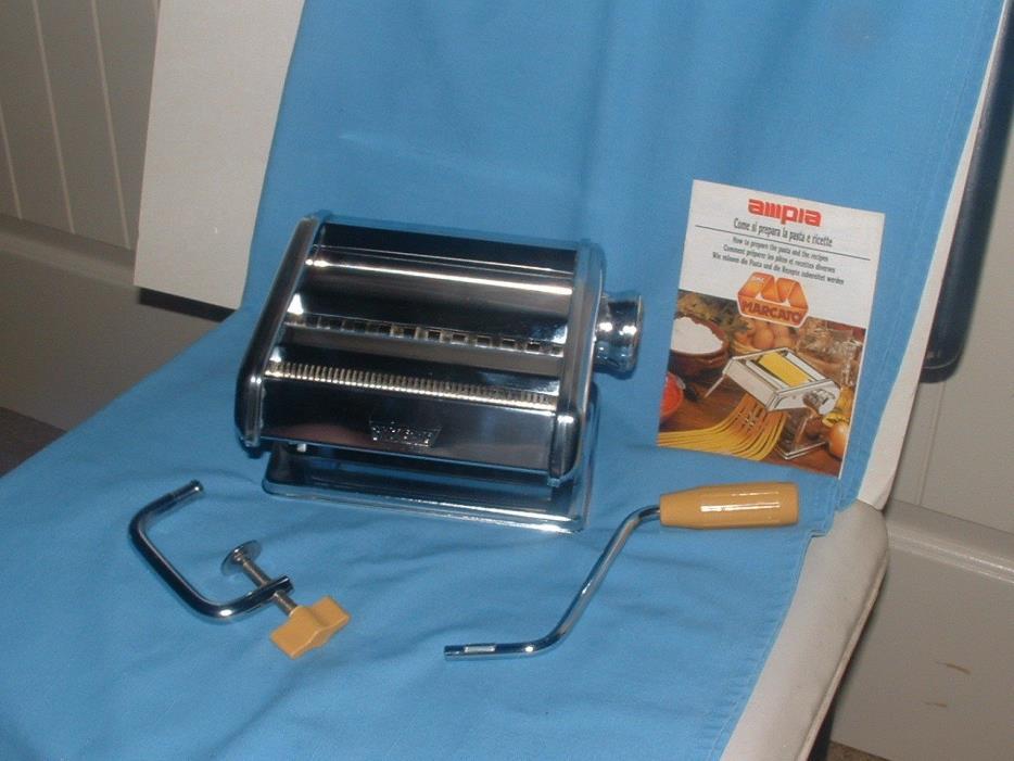 Marcato Ampia Model 150 Pasta Noodle Maker Made in Italy Complete. ORIGINAL BOX