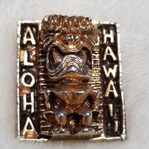 Vintage Tiki Aloha Hawaii 3D Bolo Tie Pendant