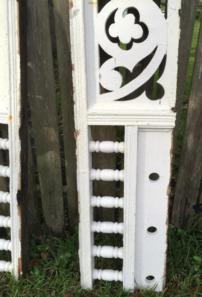 ANTIQUE RAILING  w 6 BALUSTERS 1800s ARCHITECTURAL SALVAGE VICTORIAN 46