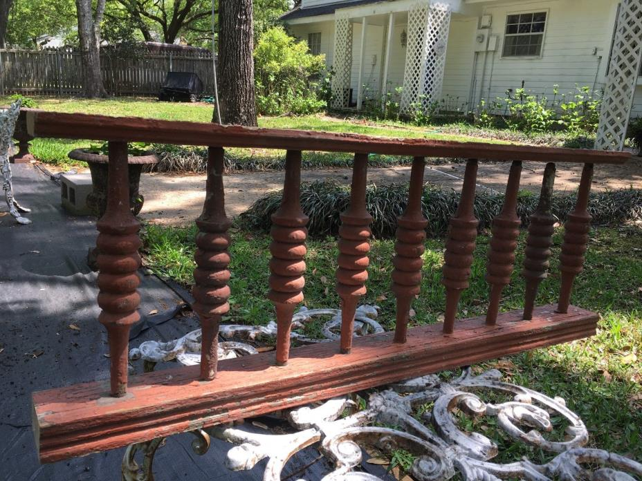 ANTIQUE RAILING 9 BALUSTERS 1800s VICTORIAN ARCHITECTURAL SALVAGE 40
