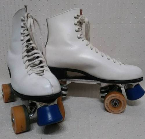 Riedell, Snyder White Leather Skates Womens Size Sz.9 Medium Roller Skates GREAT