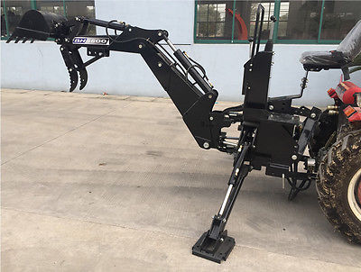 New BH5600 PTO 3 Point Backhoe Tractor Excavator Attachment w/ Pump 15