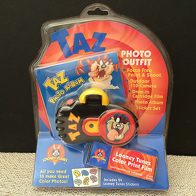 Taz Photo Album Outfit 110 Camera Looney Tunes Color Print Film 33028 - New