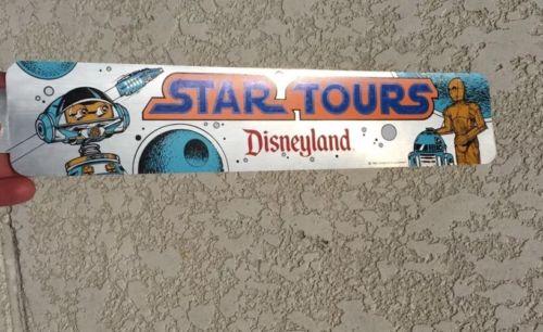 Vintage 1986 Opening Disney Disneyland Star Tours Wars Car Bumper Sticker