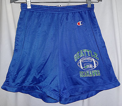 Vintage SEATTLE SEAHAWKS Team Issued Champion Football Shorts Sz M 32-34