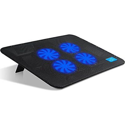 Usb Laptop Notebook Computer Cooling System Fan Pad Mat Cooler Base Stand 15.6