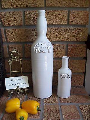 Acqua & Oil Pottery Ceramic Bottles 16.5