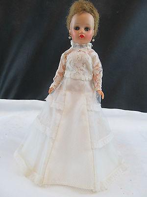 VINTAGE  HORSMAN DOLL WEARING WEDDING DRESS