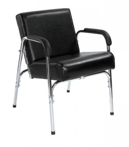 AutoRecline Salon Spa Quality Black Shampoo Chair w/ LUMBAR Support Barber Chair