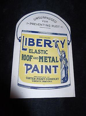 Antique LIBERTY ELASTIC ROOF METAL PAINT Booklet Advertising Brochure Pamphlet