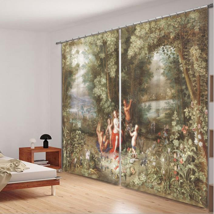 Mural Curtain: Roman/Greek Tapestry-style Perfect Classical Backdrop!