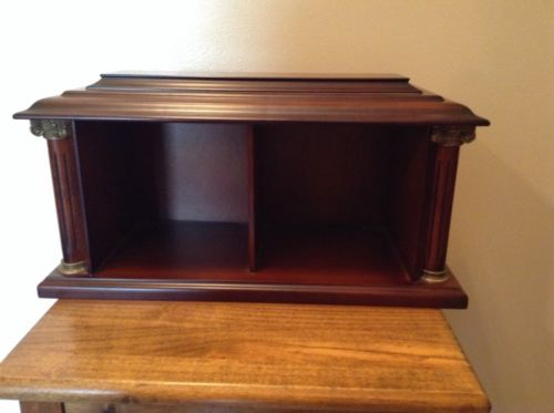 Bombay quality table top wood mail holder display cupboard CD DVD Holder