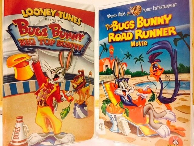 Pre-owned Bugs Bunny VHS Combo Movies Presenting Road Runner