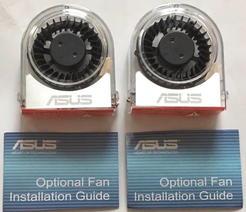 2x ASUS Optional Fan P5E3 P5K-E P5K3 A8N32 M2N32 P5N32 P5N-T P5Q3 P5W-DH Striker