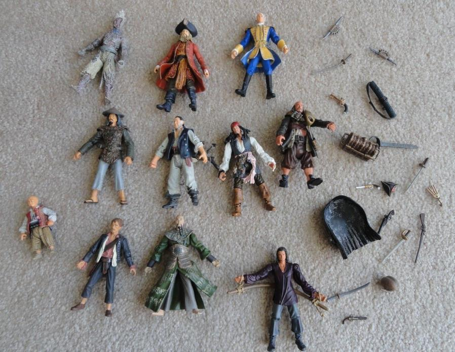 Pirates of The Caribbean Action Figures lot of 11
