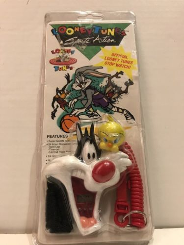 Looney Tunes Sports TWEETY AND SYLVESTER Official Stopwatch BRAND NEW Vintage