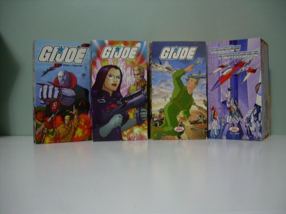 GI Joe & Transformers cartoon VHS lot, 10 tapes
