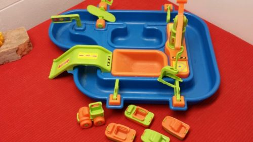 Sand & Water Activity Playset Boats, Trucks, Crane Load Unload, Make Waves