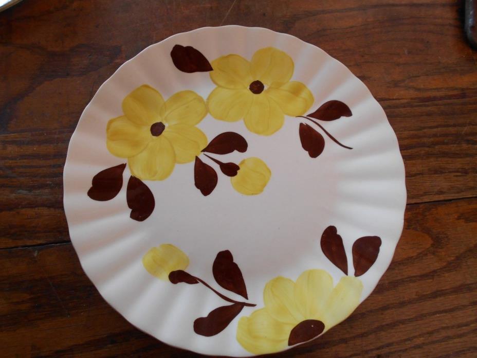 VINTAGE BLUE RIDGE POTTERY - RIDGE Delta DAISY dinner plate 10 3/8