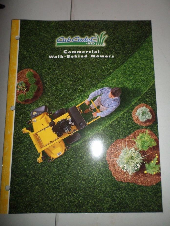 1997 CUB CADET Commercial Walk Behind Mowers Dealer Sales Brochure