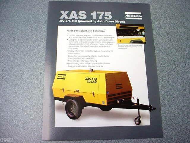 Atlas Copco XAS 175 Portable Compressor John Deere Diesel Brochure