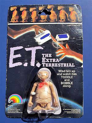 1982 E.T. THE EXTRA TERRESTRIAL Vintage Wind-Up Walker Toy © UNIVERSAL STUDIOS