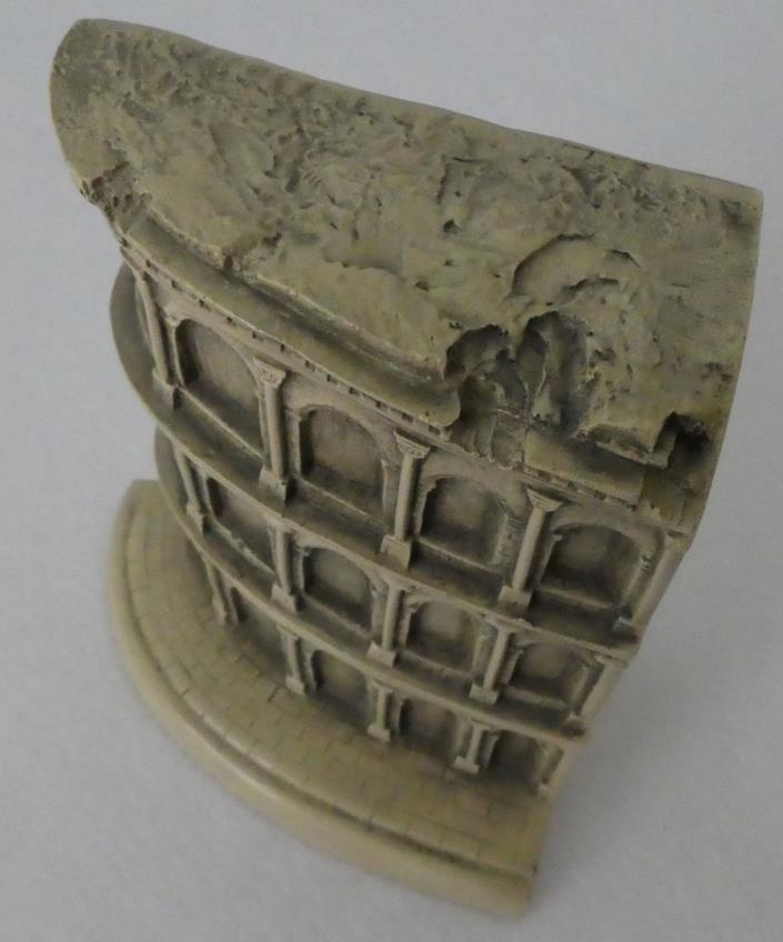 ROMAN COLISEUM Historical Architecture Shelf Bookend Paperweight Decor MINT