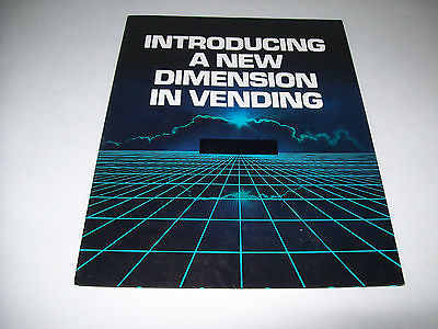 ROWE GENESIS VINTAGE ORIGINAL VENDING ICE CREAM ECT MACHINE SALES FLYER BROCHURE