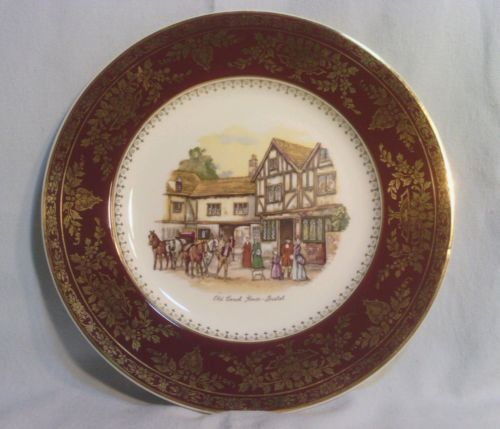 Crown Ducal England, Old Coach House-Bristol, Picture Plate, 10