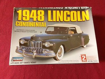 Lindberg 1948 Lincoln Continental Convertible #72322 Opened Factory Sealed Bags