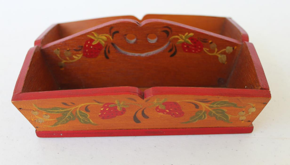 VINTAGE MINIATURE REPLICA OF EARLY CAPE COD WOODENWARE TRAY/BOX, SIGNED M. HERDT