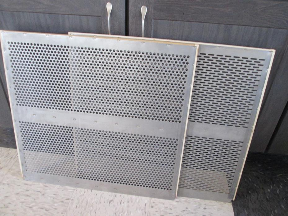Clipper seed cleaner screens (one set of two screens for cleaning soybeans)