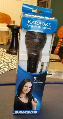 Samson M1 Dynamic Microphone Karaoke ~New in opened box~ Missing Desktop Stand